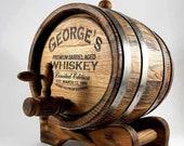 Personalized Oak Whiskey Barrel 1-2-3-5-10-15L, Whisky-Wine-Rum-Bourbon-Beer-Tequila Barrel, Gift for Men Him Dad Husband Oak Cask Wood Keg