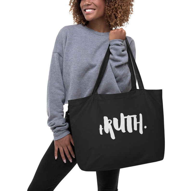 Truth Tote RBG Political Feminist Large Cotton Canvas Shopping Tote Bag Ruth Bader Ginsburg tRUTH Gift For Ruth Bader Ginsburg Fan