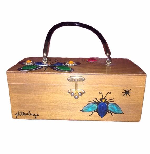 Vintage Enid Collins Glitterbugs Box Purse
