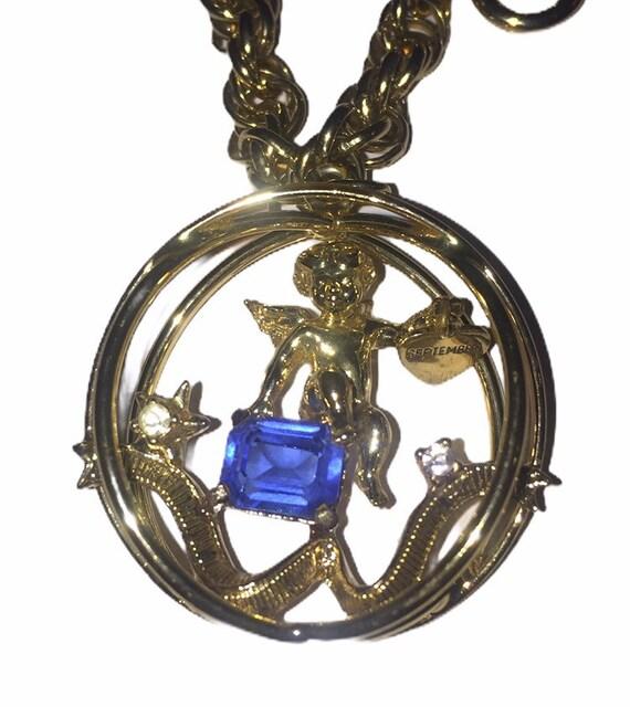 RARE Coro September Birthstone Charm Bracelet