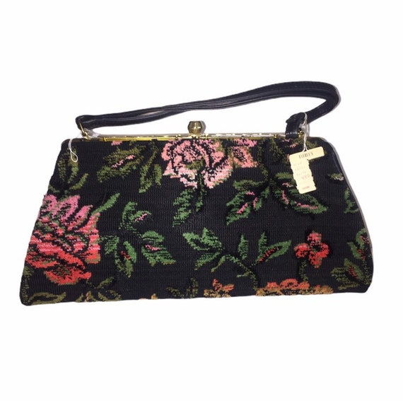 NOS Pristine Carpet Bag Handbag