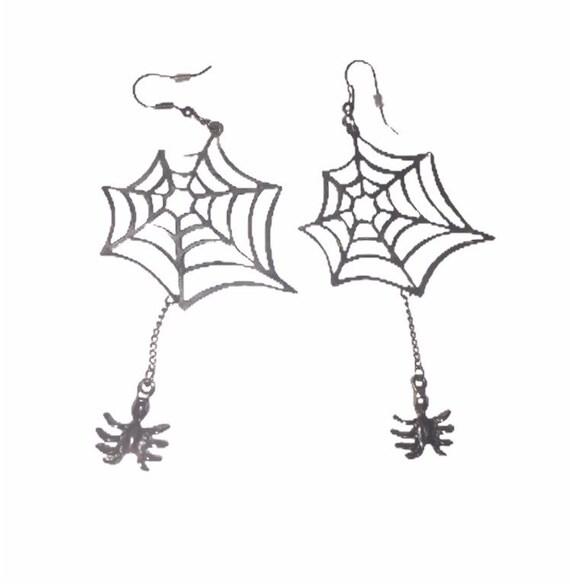 Cool Halloween Spiderweb Earrings