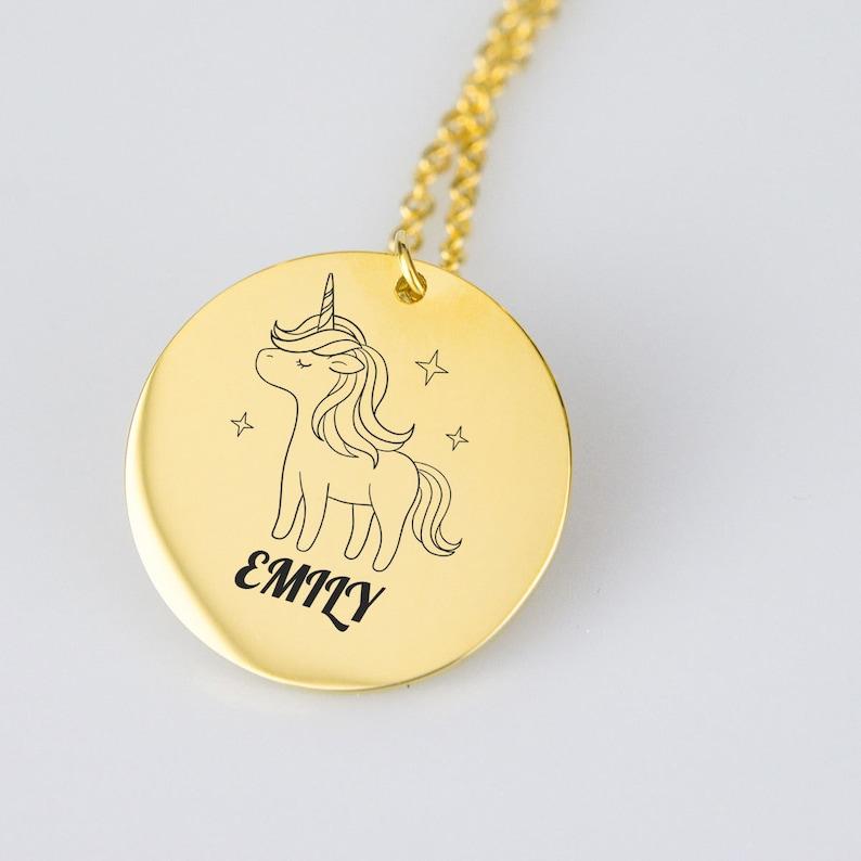 Unicorn Custom Name Necklace Pendant Personalized Necklace Personalized name Girls Necklace Gift For Kids Custom Jewelry Kids Necklace
