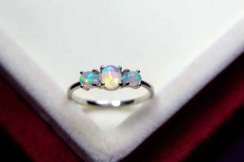 October birthstone for Her designer ring wedding ring Natural fire opal Gemstone 925f Silver Sterling ring handmade ring ring for mom