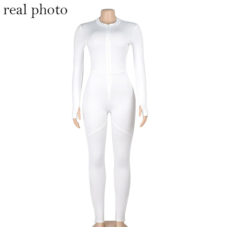 Vintage Jumpsuit Custom Spandex Full Length  Stretch  Jumpsuit Body Fitness Rompers Sporty Jumpsuit Fashion Rompers Stretch Slim Fit