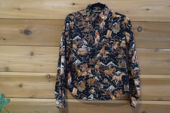 Vintage Rockmount Ranch Wear Cowboy Shirt Women's