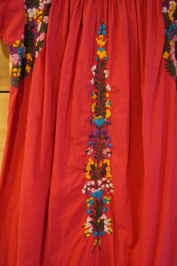 Vintage 1960s Colorful Mexican Embroidered Dress … - image 4