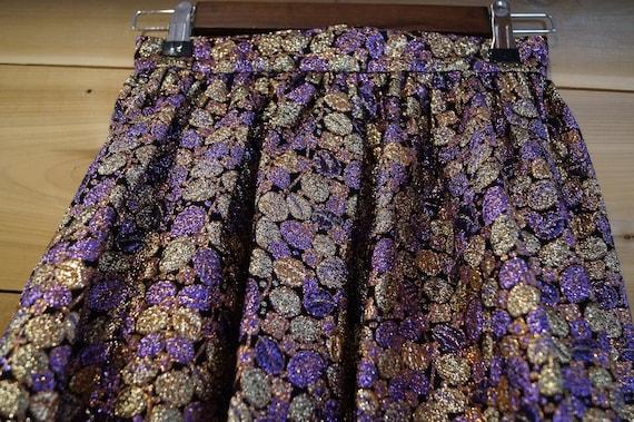 Long Metallic 1970s Floor Length Skirt, Seventies