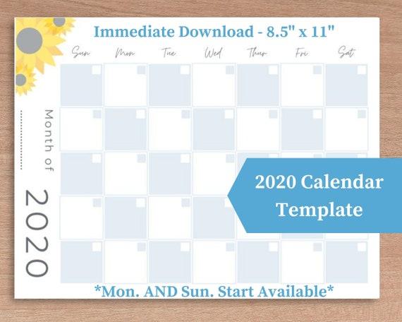 Fill-In Calendar Template from i.etsystatic.com