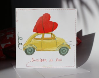 lover family crush lover Mother/'s Day mother/'s card distributor heart love digital print drawing made in Montreal