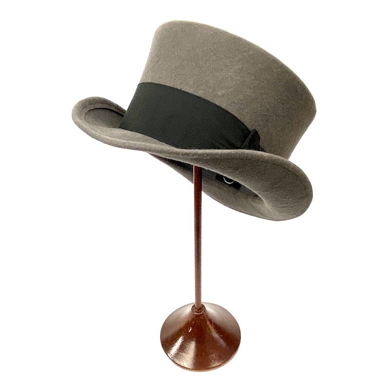 Steampunk Hats for Men | Top Hat, Bowler, Masks Edwardian hat low top hat gray topper hat big size top hat gray wool felt top hat top hat short crown victorian top hat cylinder hat $116.19 AT vintagedancer.com