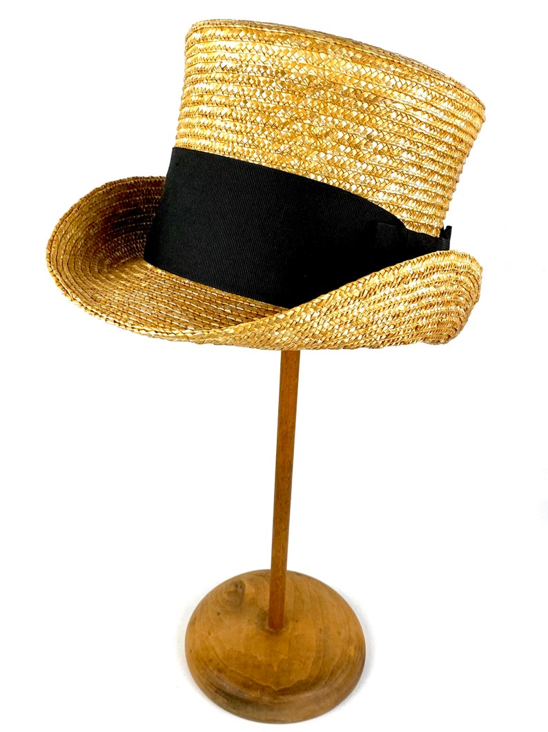 Victorian Men's Hats- Top Hats, Bowler, Gambler Straw top hat straw topper hat Edwardian straw hat mad hatter hat Victorian top hat xl straw top hat man straw top hat cylinder hat $93.12 AT vintagedancer.com