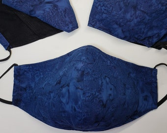 Batik Contour Facemasks, 2 Layer 100% Cotton, Proceeds to Charity, Stylish, Washable, Long Lasting