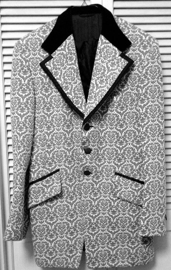 VINTAGE Men's BROCADE TUXEDO Jacket