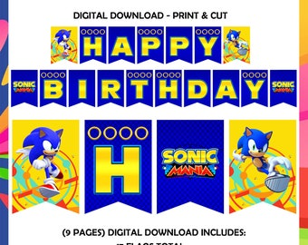 Sonic The Hedgehog Party Etsy