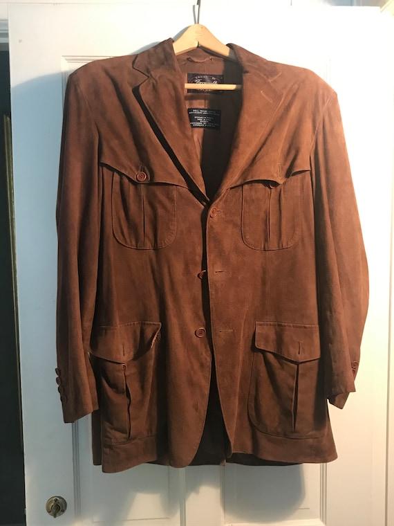 Vintage Faconnable (Albert Goldberg) suede leather