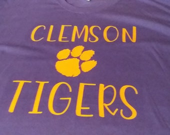 Clemson Tigers Paw Many Colors /& Sizes To Choose From Graphic T-shirt/'s Made To Order