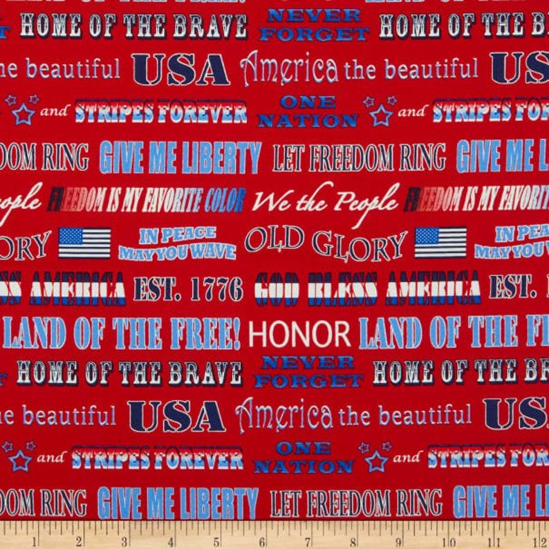 6 Patterns Available USA Patriotic Fabrics 100/% Cotton