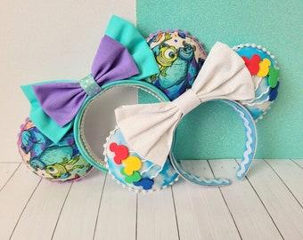 Minnie Mouse Ears   Disney Ears   Pixar Themed Mouse Ears   Handmade Ears   Monster Inc   Mickey Balloons Ears   Ready to ship