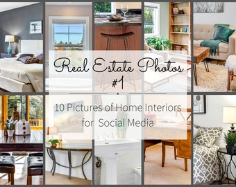 Realtor Marketing for Instagram Story and Facebook, Downloadable Real Estate Pictures - Interior Design Pictures for Real Estate Flyers