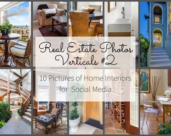Realtor Marketing - Instagram Story, Facebook Posts for Realtors - Real Estate Pictures Marketing Templates - Interior Design Stock Photos