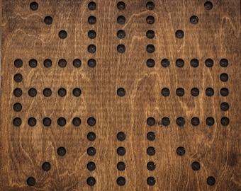 "Wahoo Game Board | Aggravation | Premium Birchwood | 4 Player | Large - 16x16"""