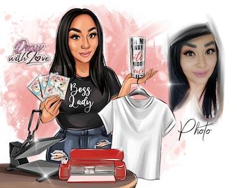 Crafting Logo Design ,Business logo,cartoon logo, T-Shirts Designer Logo, Decorating logo,Tumbler Designer Logo,Custom Portrait Logo