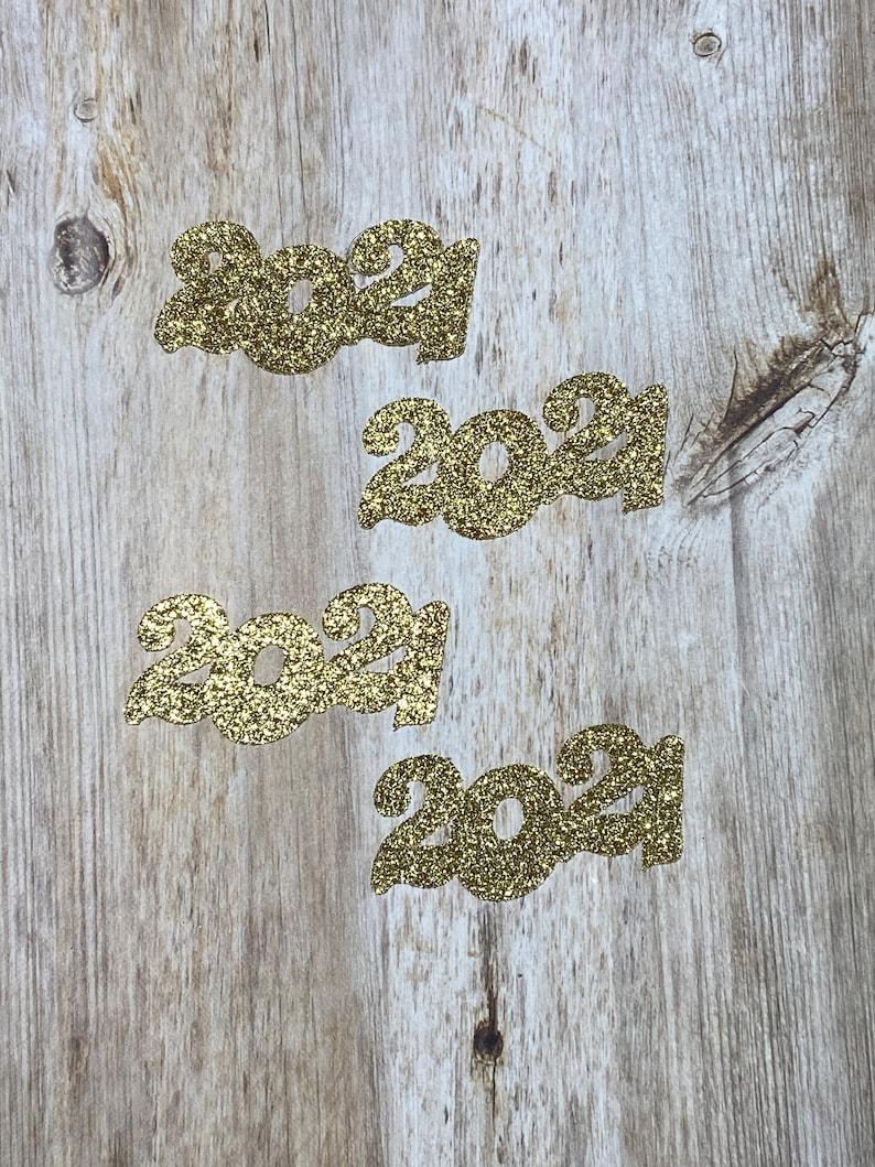 Table Scatter 2021 Glitter Confetti 50 pcs. 2021 Graduation Confetti Graduation Decorations