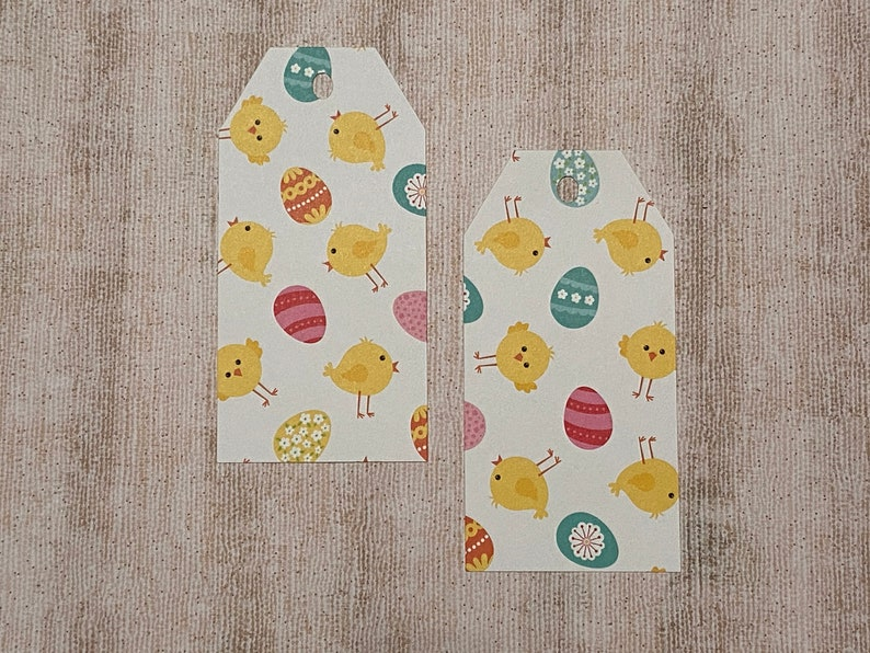 Easter Paper Tag Paper Tag Easter Basket Tag Hang Tag Blank Favor Tag Luggage Tag Large
