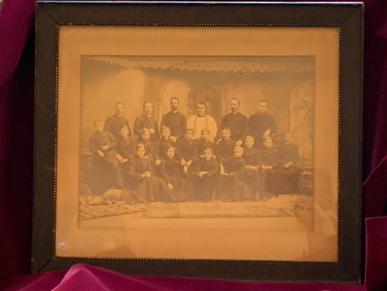 Antique Framed Photo of Young Seminarians