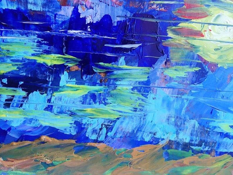 Hawaii Painting Mountains Original Seascape Oil Wall Art Landscape Small Art 10x10 by Olina Svoboda