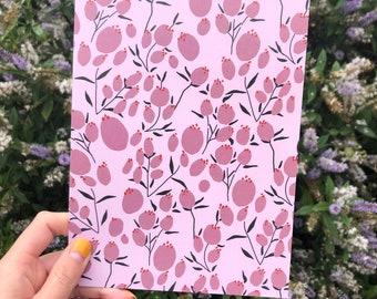 Flower Tulip Themed Postcard Dutch Design