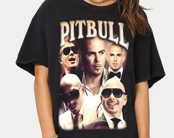 Pitbull Shirt, Hip Hop Shirt, Vintage 90s Rap, Vintage Pitbull Shirt, Armando Cristian Pérez Shirt, Pitbull Lovers, Gift For Fan HA-T19-7-9