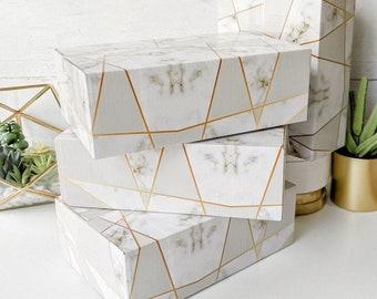 250 Marble 9x6x3 Designer Mailing Box