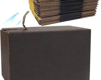 5 count 8.2 x 4.3 x 5.9 inch Black Designer Mailing Box