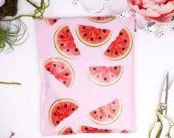 10x13 Watermelon Poly Mailers 10ct
