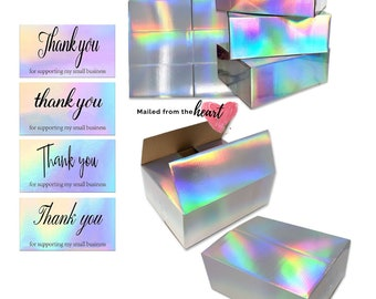 Holographic Business Pack 25 Boxes and 25 Holographic Thank you cards