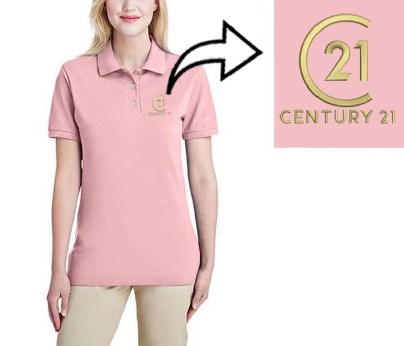 Polo Shirt Ladies Century 21 logo Embroidery