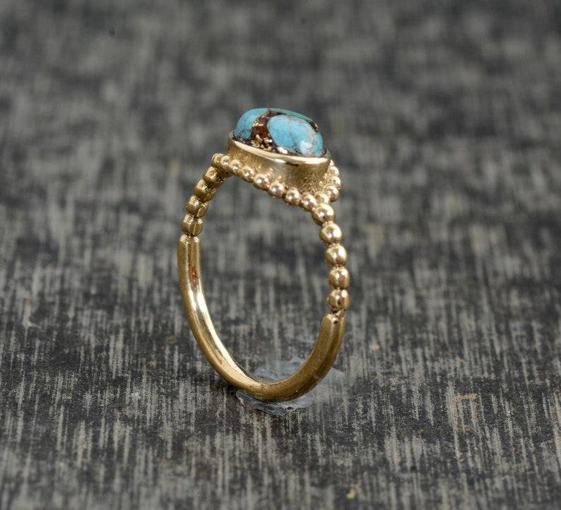 Turquoise ring,Brass Ring,Gemstone Ring,Handmade Ring,Rings,Women Ring,Boho Ring,Worry Ring,Vintage Ring,Men Ring,Girl Ring,Unique Rings