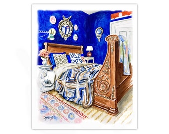 Watercolor print: Yves Klein Blue