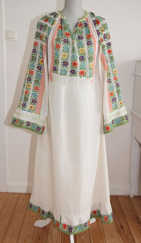 Vintage Romanian traditional dress from Muscel