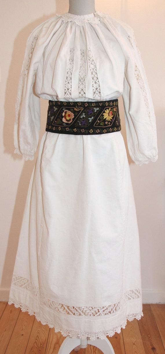 Vintage Romanian traditional dress from Banat regi