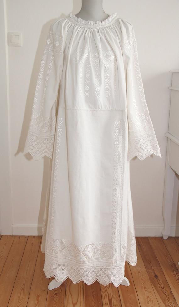 Vintage Romanian traditional dress from Transylvan
