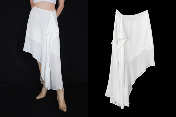 Acne Studios asymmetric silk midi skirt