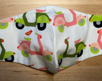 Mask in Festival Certified Organic Cotton fabric  100/% Cotton Washable Reusable  Nose Wire  Donation to Food Pantry