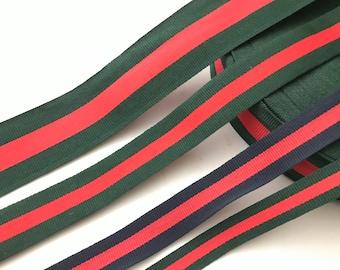 """2"""" Festive Grosgrain Ribbon, Christmas Red/Green ribbon,  Christmas In July, Hair Ribbon, Gift Ribbon, Bow Ribbon"""