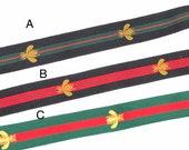 3 4 quot Gold Bee Ribbon Christmas Gift Ribbon Hair Bow Ribbon Choker Ribbon Striped Gift Ribbon