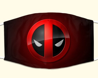 Deadpool Red//Black stretchy mask UK SELLER /& FREE UK DELIVERY