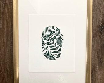 Plant Print | Botanical Print | Plant Art | Leaf Print | Garden Printer | Garden Art