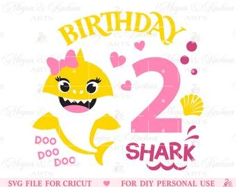 shark birthday svg